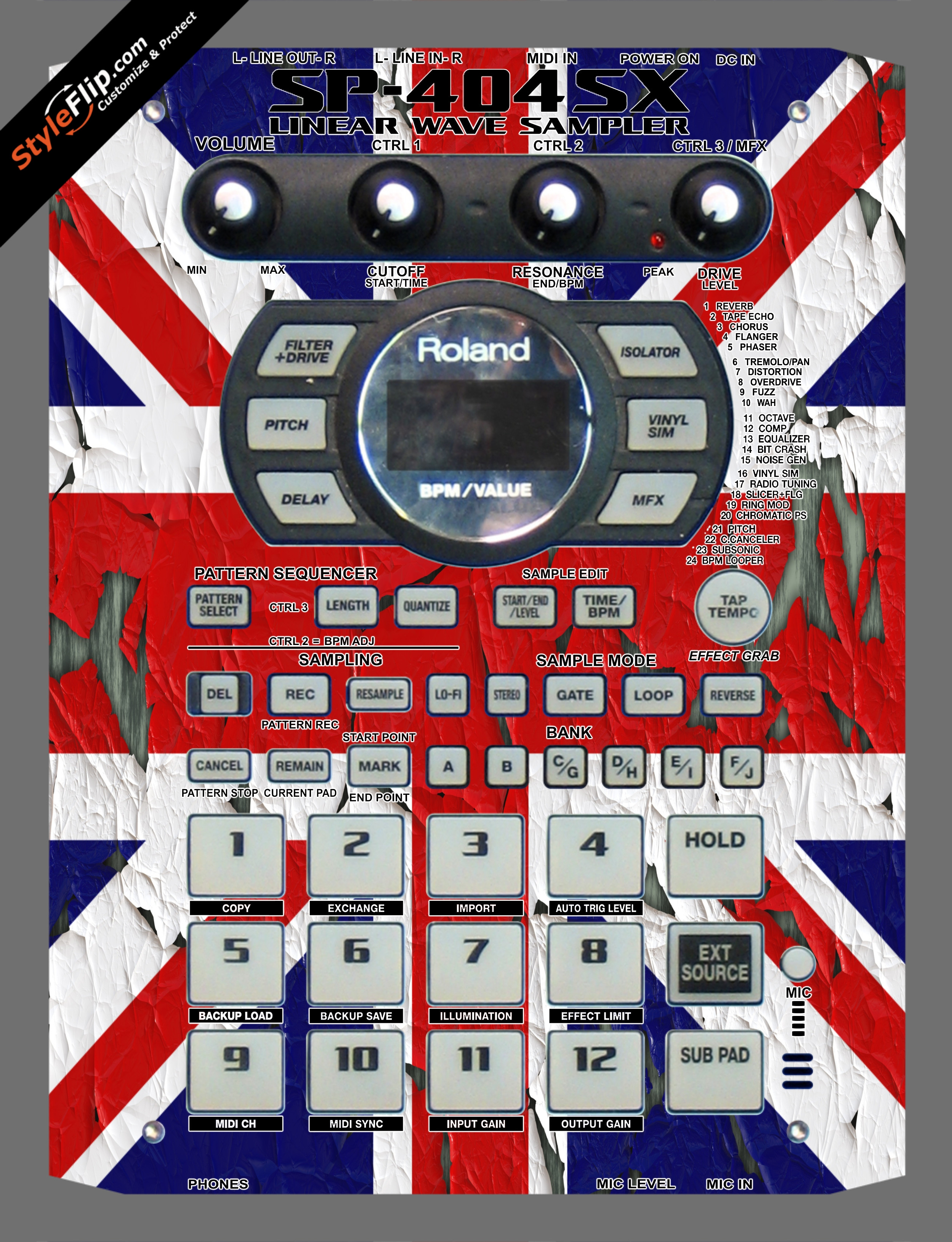 United Kingdom Flag 2  Roland SP-404 SX