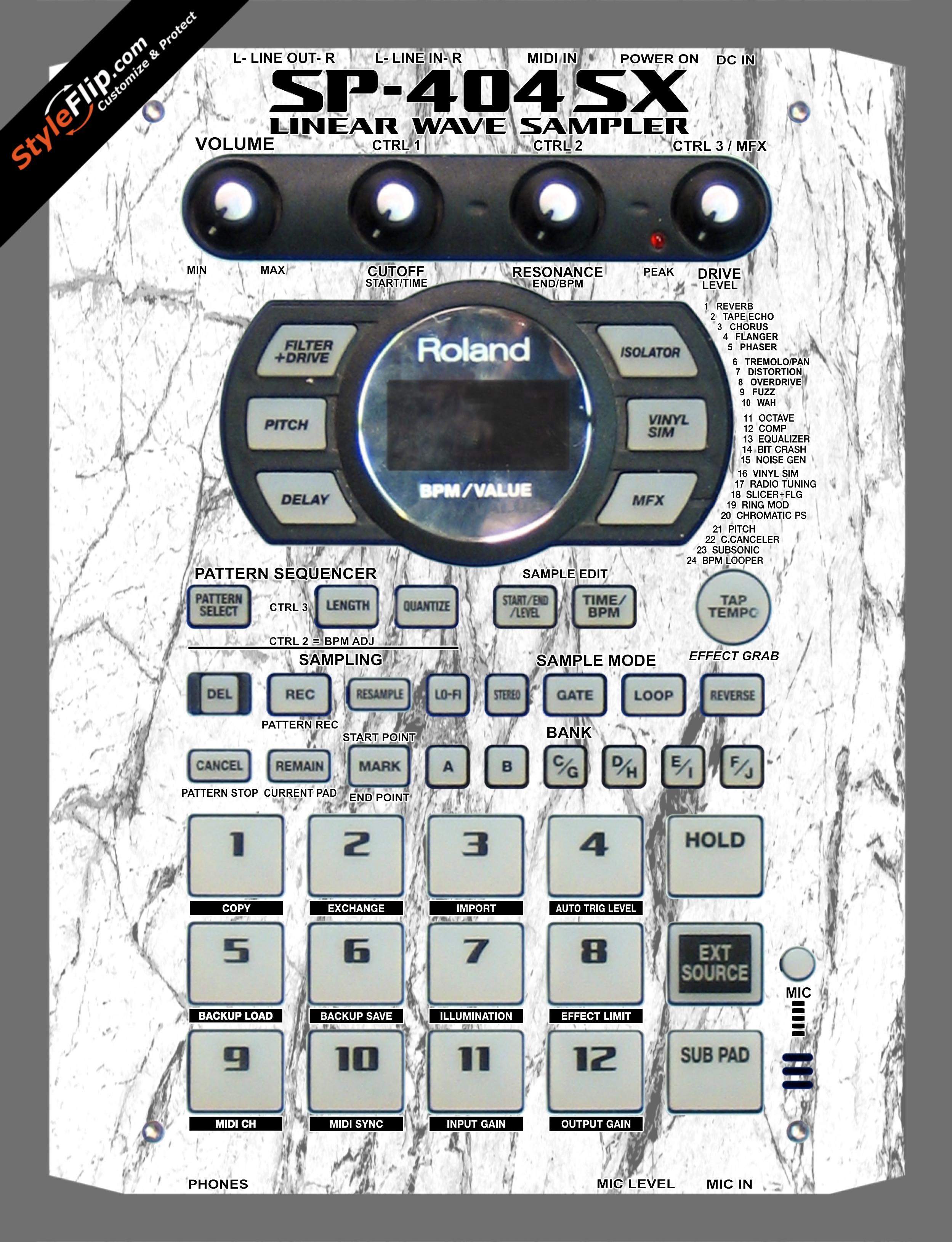 White Marble Roland SP-404 SX