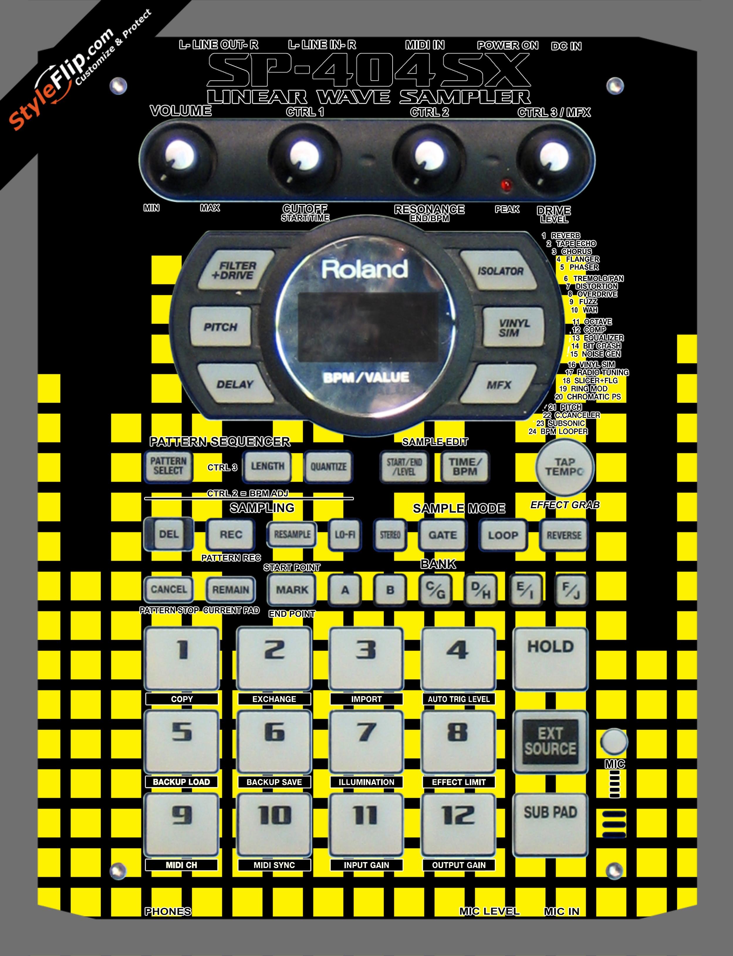 Yellow Equalizer  Roland SP-404 SX