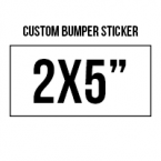 General 2x5 Custom Bumper Stickers  Skins Custom Sticker Covers & Decals