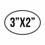 """General Custom Stickers 3""""X2"""" Oval Stickers Skins Custom Sticker Covers & Decals"""