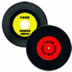 "General 7"" Record Labels - Two included Skins Custom Sticker Covers & Decals"
