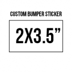 General 2x3.5 Custom Bumper Stickers  Skins Custom Sticker Covers & Decals