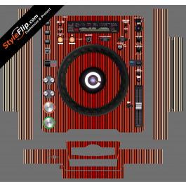 Red Stripes Pioneer CDJ-1000MK3