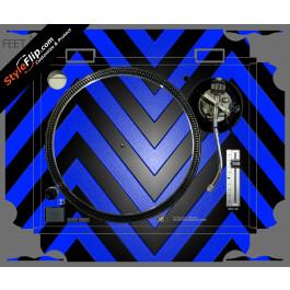 Black & Blue Chevron Technics SL-1200 MK2