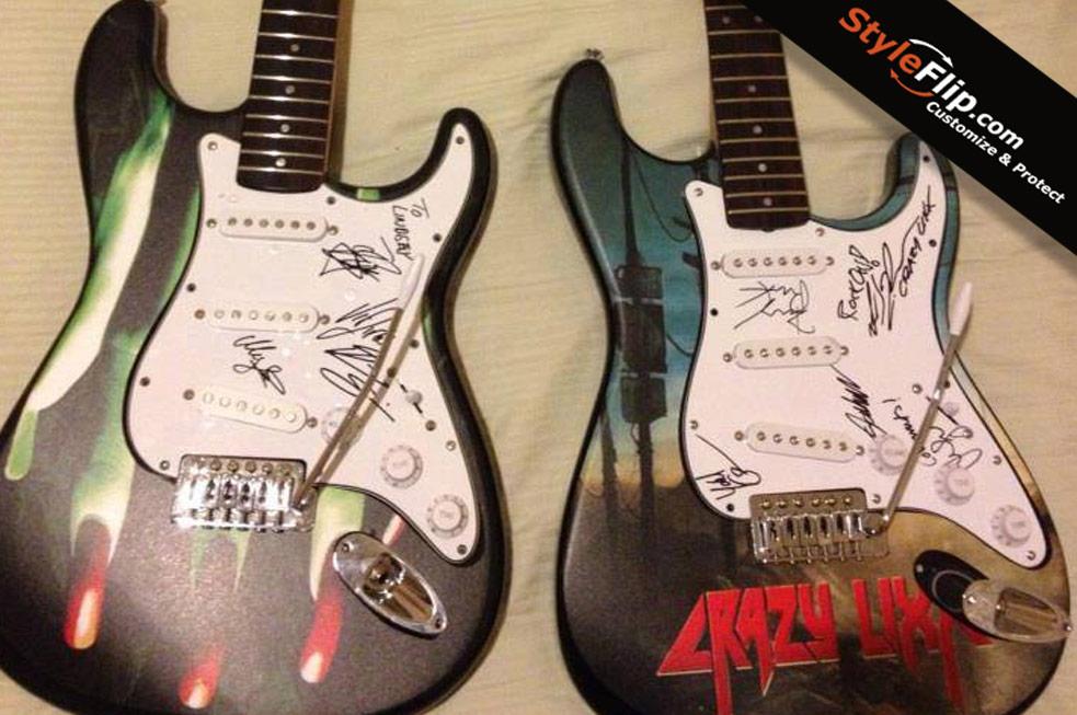 Fender Stratocaster Guitar Skin Decals Covers Stickers Buy - Custom vinyl guitar decals