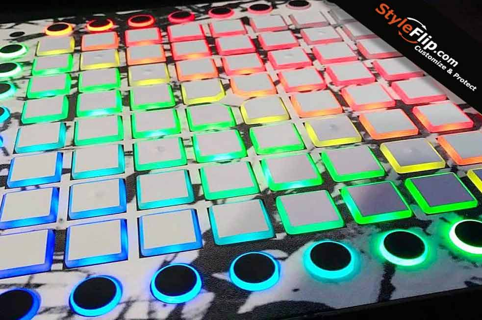 novation launchpad pro skin decals covers stickers buy custom skins created online. Black Bedroom Furniture Sets. Home Design Ideas