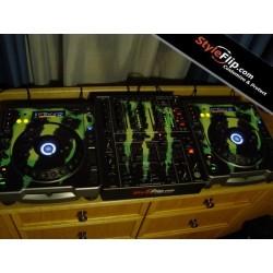 Pioneer CDJ 800 And DJM 700 Custom Skin Monster Design